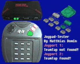 The Joypad-tester-screen